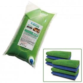 # AguaMirai PROFESSIONAL 7L KIT (pacote recarga + 8 toalhas) 65~80 Lavagens a seco
