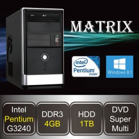 DESKTOP PC - MATRIX-PE (Pentium / 4GB DDR3 / HDD 1TB / DVD / Win8.1)