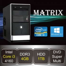DESKTOP PC - MATRIX-i3 (Core i3 / 4GB DDR3 / HDD 1TB / DVD / Win8.1)