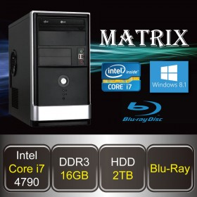 DESKTOP PC - MATRIX-i7 (Core i7 / 16GB DDR3 / HDD 2TB / Blu-ray / Win8.1)