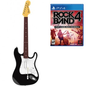 Rock Band 4 Wireless Fender Stratocaster Guitar Controller and Software Bundle - PS4 (USA)