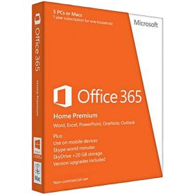 Microsoft Office 365 Home Premium 32/64bit (USA) - 1 Year Subscription