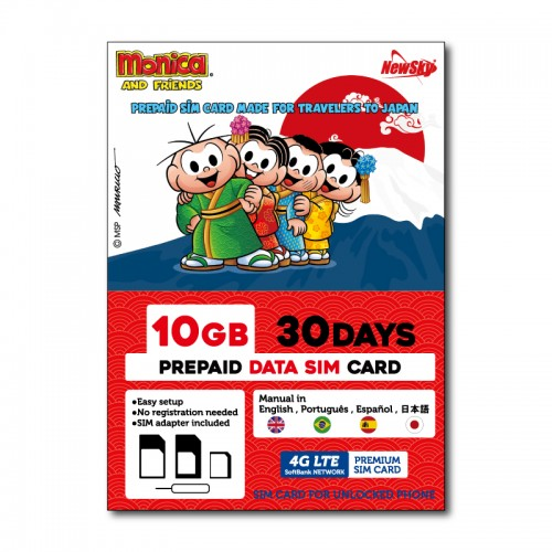 (10GB / 30DAYS) MONICA AND FRIENDS Prepaid SIM Card
