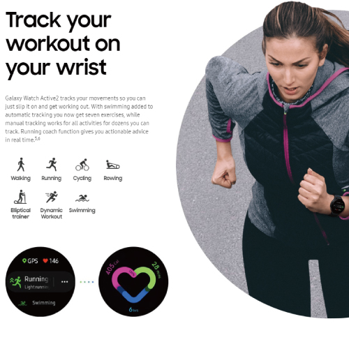 SAMSUNG Galaxy Watch Active2 (Wi-Fi model / 40mm / Stainless Steel)